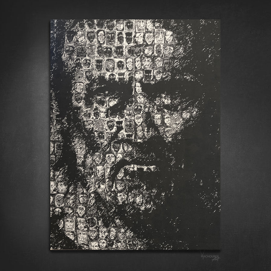Printed Canvas Series 001, 64x88cm