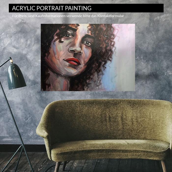 Machourek Art Acryl Portrait Kunst