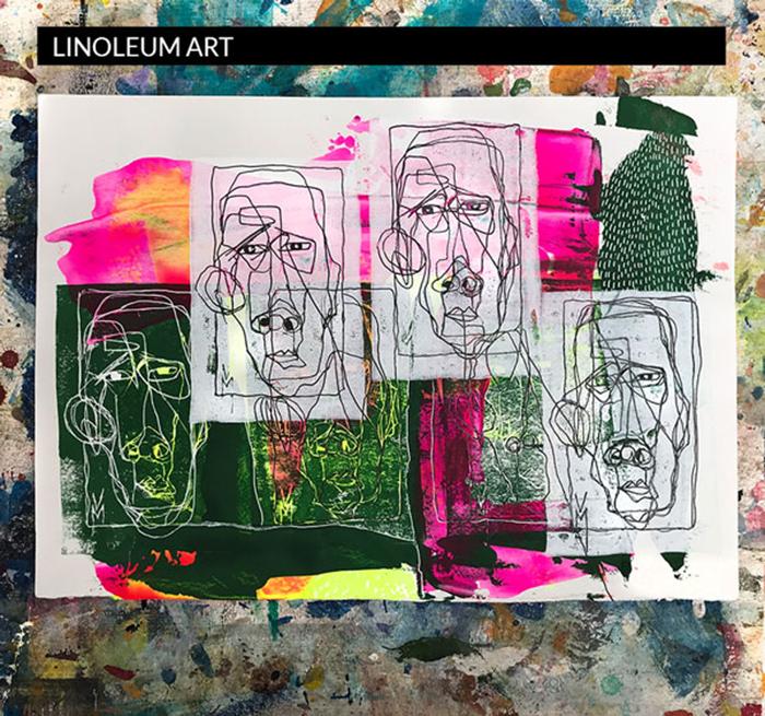 Machourek Art Linoleum Kunst